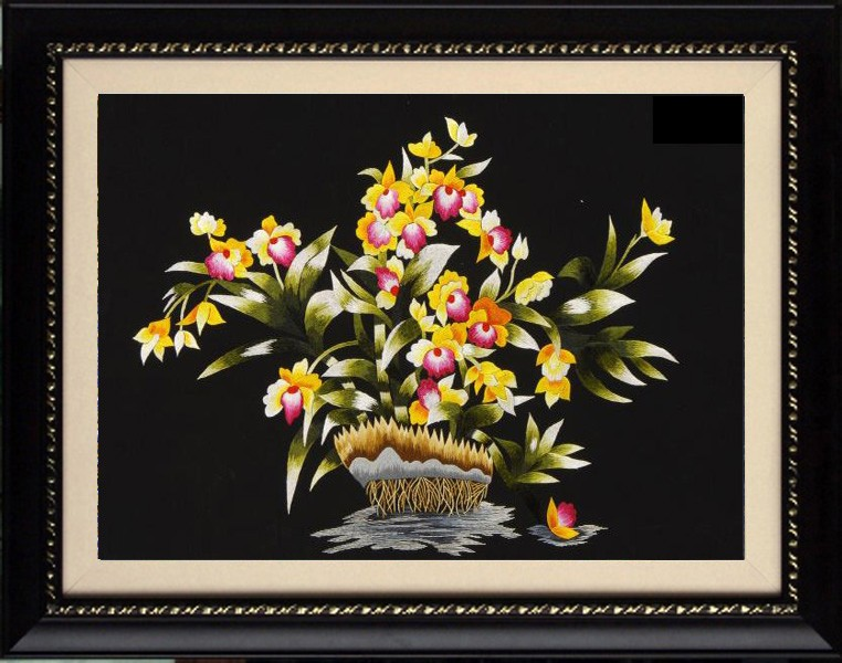 Hoa lan vàng tím